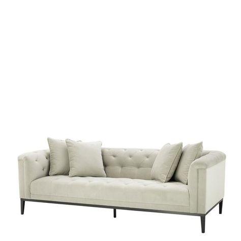Pebble Grey Sofa Eichholtz Cesare