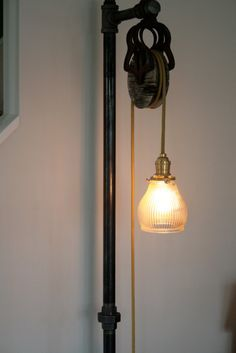 Custom made vintage industrial floor lamp dark apt 20 modern how to make a floor lamp out of pipe google search solutioingenieria Image collections