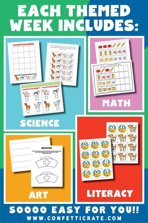 Easy Whole Year Preschool Curriculum for Homeschool - 32 weeks (printable)