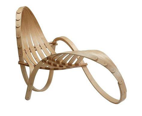 muebles de madera curvada chaise longue escultura