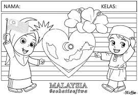 Lukisan Hari Kemerdekaan Google Search Free Coloring Pictures Islamic Kids Activities Tea Stained Paper