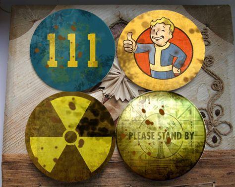 Fallout coaster fallout beer coaster Fallout by SilverFoxCraft