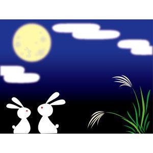 「中秋の名月 イラスト フリー」の画像検索結果