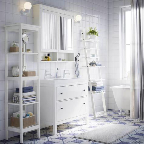 Mueble Blanco Con Patas Cuartos De Bano Ikea