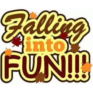 Falling into fun title | Silhouette design, Design store, Title design