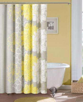 Madison Park Lola 72 X 72 100 Cotton Floral Printed Shower