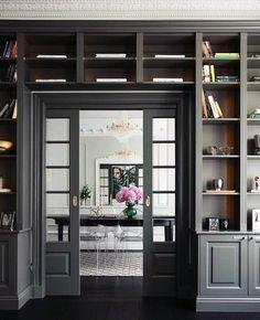 Grey Doorway Exceptional Built In Bookcase Ideas In 2020 Home