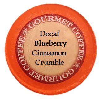 Decaf Blueberry Cinnamon Crumble Coffee, 24 Count for Keurig K-cup Brewers