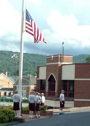 Special Flags Fly At Half Staff For Members Of Fishburne Military School Family Military School Honor Guard United States Air Force