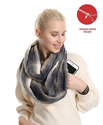5c306bd6bc112 Plaid Travel Pocket Infinity Scarf Tartan Women Men Convertible Zipper  Hidden #fashion #clothing #shoes #accessories #womensaccessories  #scarveswraps (ebay ...