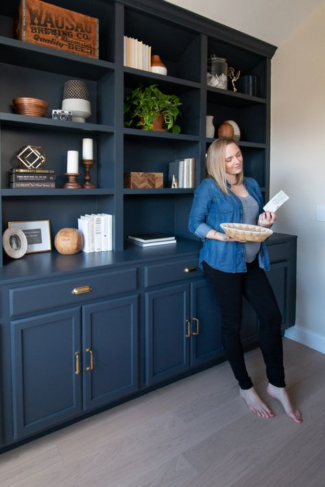 Our new office built-ins were just begging for some home decor. Here are my best shelf styling tips to add intentional decor in your house.