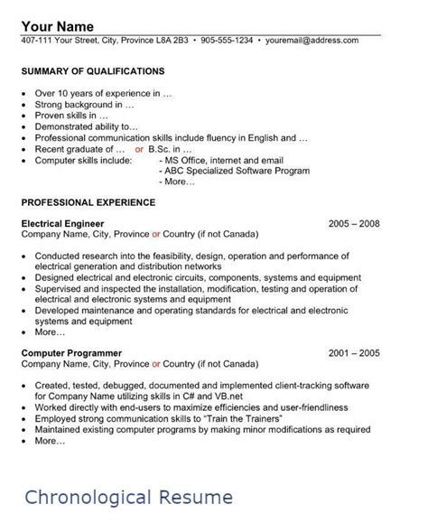 How To Write Resume In Canada Post Date 11 Nov 2018 78 Source Https Pinoy Canada Com Wp Content Upload Chronological Resume Resume Resume Format
