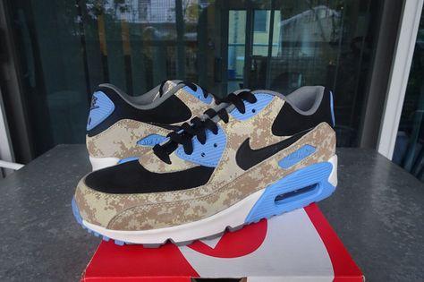 Nike Air Max 90 Premium Digi Camo BeigeBlackBlue Ref