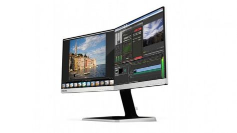 Philips Two-in-One Monitor gives you two adjustable panels in one display