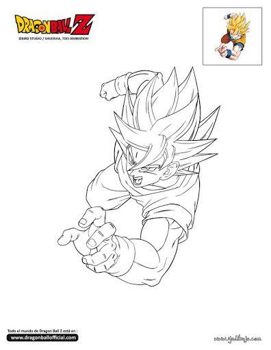 Goku Para Pintar Busqueda De Google Dragon Ball Artwork Dragon Ball Art Dragon Ball Wallpapers