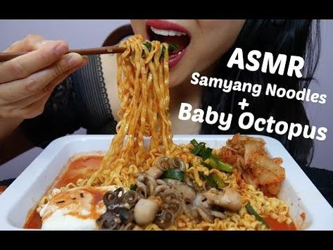 Asmr Spicy Samyang Noodles Baby Octopus No Talking Chewy Crunchy Eating Sounds Sas Asmr Youtube Eat Spicy Food Asmr kimchi wrap spicy blackbean noodles + fire … sas asmr was born on the 20th of july in 1982 somewhere within thailand. pinterest