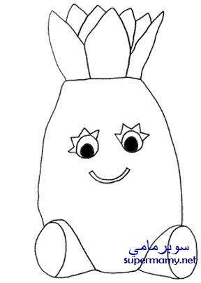 صور رسومات تلوين فواكه وخضروات للاطفال Art Character Fictional Characters