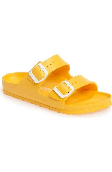 BIRKENSTOCK . #birkenstock #shoes #sandals | Yellow sandals