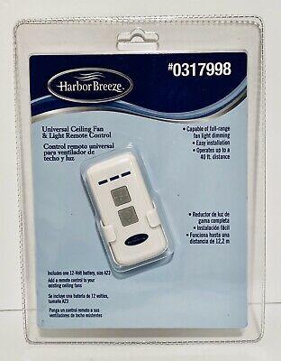 Harbor Breeze Universal Ceiling Fan Light Remote Control 0317998 Model Rci 107l Ebay Ceiling Fan With Light Fan Light Roseville