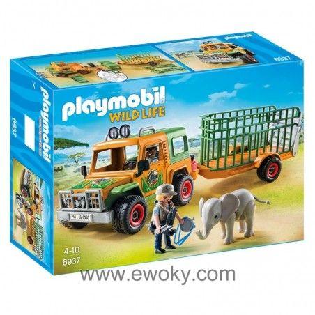 Https Www Ewoky Com Es 55116 Camion Con Elefante Playmobil Wild