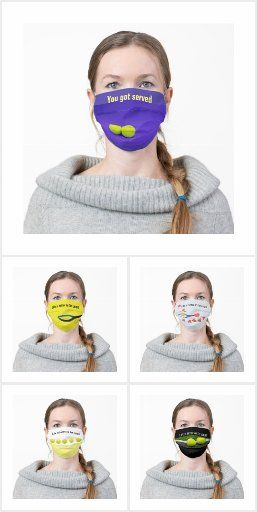 Pin By Happy Media Gift Shop On Tennis Party And Gifts Ideas In 2020 Tennis Ball Face Mask Tennis Party