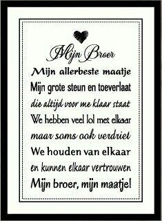 Pin Van Cindy Demoor Op Mooie Teksten Broer Verdrietig En