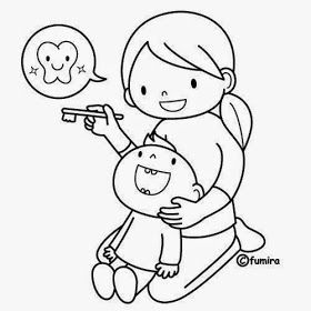 Dibujos Para Colorear Maestra De Infantil Y Primaria Dibujos Para Colorear Escenas De Medicos Cui En 2020 Salud Dental Actividades De La Vida Diaria Salud Infantil