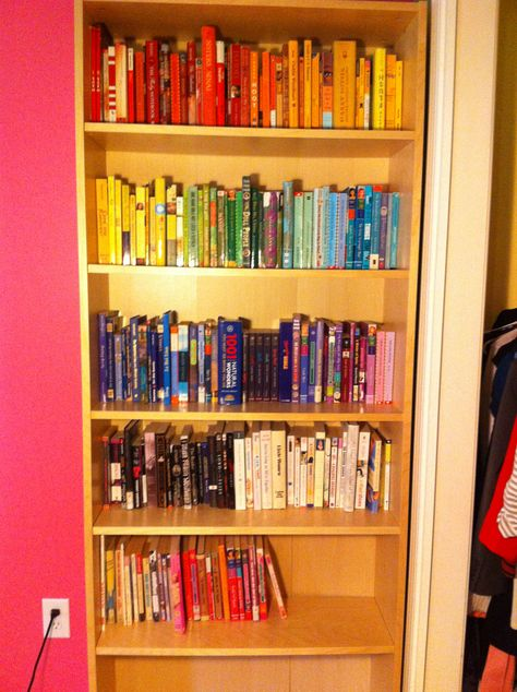 Color coded book shelves!