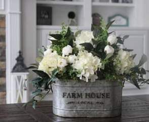 21 Trendy Ideas For Kitchen Table Centerpiece Rustic Hydrangeas Dining Room Table Centerpieces Hydrangea Arrangements Rustic Table Centerpieces
