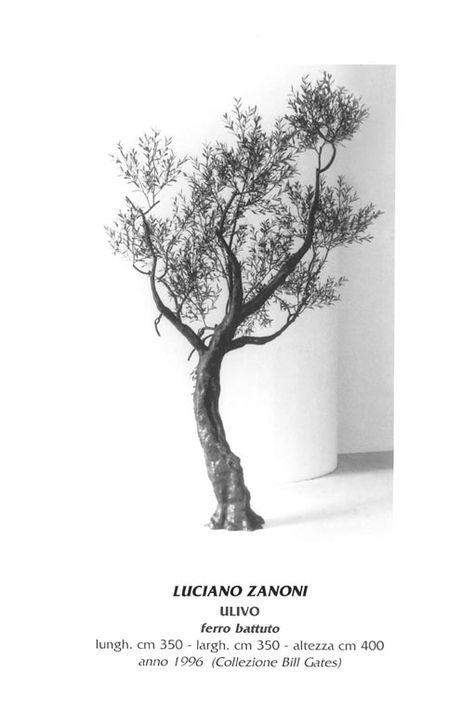 Salotto Bill Gates.Luciano Zanoni Olive Tree Wrought Iron Cm 400 X 350 X 350