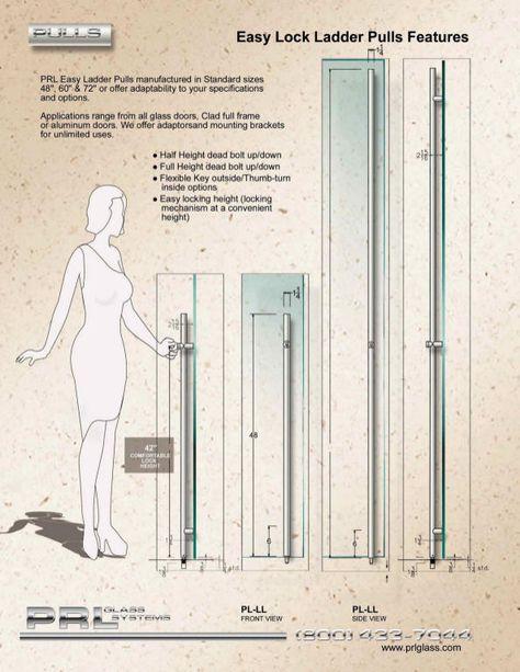 PRL Easy Lock Ladder Pulls | Ladder Pulls & Door Handles | Pinterest ...