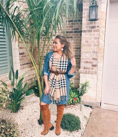 Denim Dress Fall outfit #denimdressoutfit #denimdress #denimfalloutfit