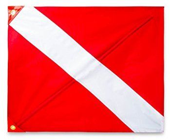 Amazon Com Premium Quality Dive Flag 20 Inch X 24 Inch With Removable Stiffening Pole Easy To Use Diver Down Red And White Boat Diver Down Dive Flag Diver