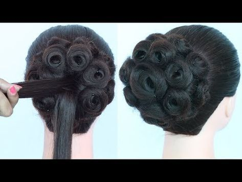 New Roll Juda Hairstyle Easy Hairstyles Wedding Hairstyle Bridal Hairstyle Hairstyle Youtube Long Hair Styles Hair Styles Long Face Hairstyles
