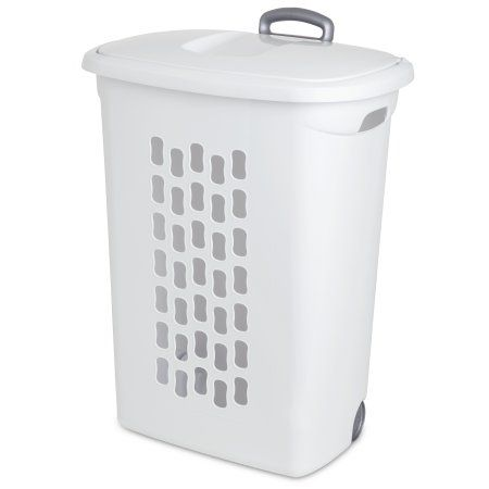 Home Laundry Hamper Laundry Basket On Wheels Plastic Laundry Basket
