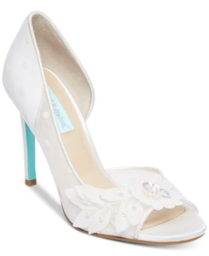 4bb4735cebf Blue by Betsey Johnson Anise Peep-Toe d Orsay Evening Pumps - Women s Shoes