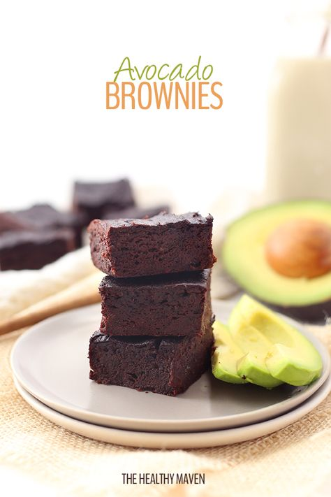 """""""A healthy and delicious recipe for avocado brownies! Replace oil or butter with heart-healthy avocados for a delicious and nutritious dessert."""""""