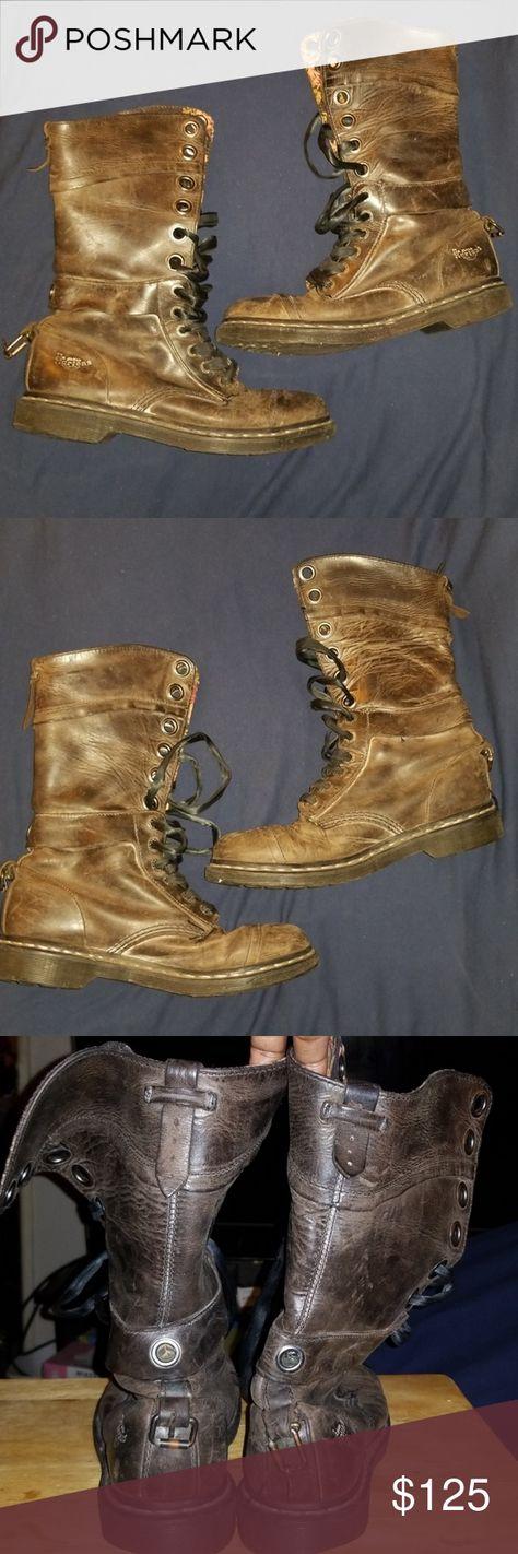 ae62c40eff1 DR MARTENS TRIUMPH 1914 BROWN COMBAT BOOTS SZ 10 We have a pair of Original  Dr