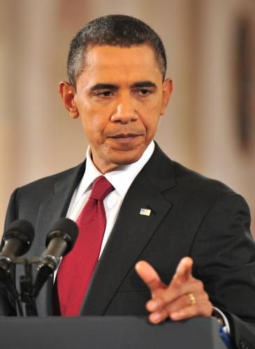 President Barack Obama Speaks During A Press Conference In The