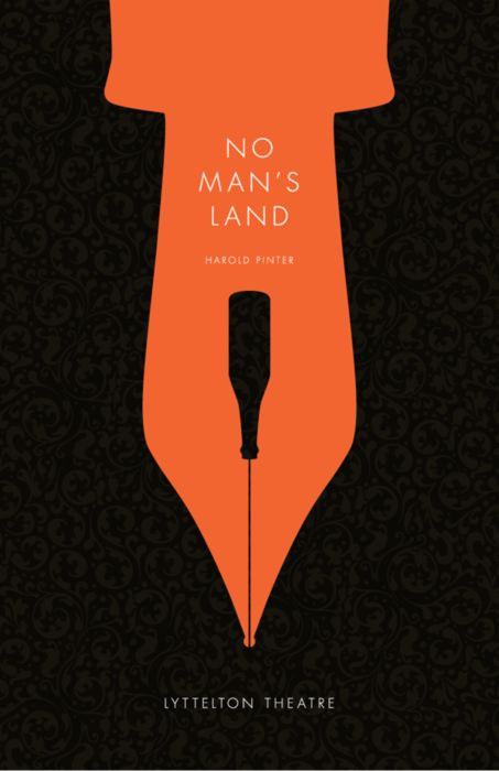 "This theater poster was designed and produced under the direction of Luba Lukova during a visiting artist workshop at Maryland Institute College of Art. It is based on the screenplay ""No Man's Land""."