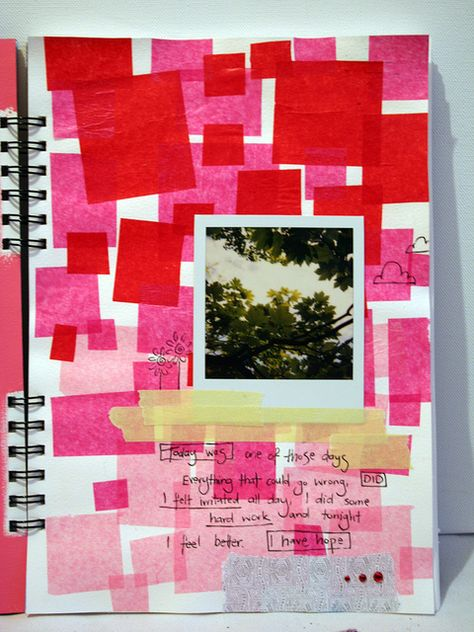 I just stumbled upon her on Flickr and I love her journaling style. Tell Your Story 2 by dearlydee, via Flickr