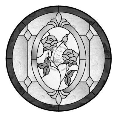 Gambar Pattern Untuk Kaca Patri Circle Bunga Mawar Rose Dari Kerajinan Kaca Patri Jogjakarta Indonesia Gudangart Desain Kaca Patri Kaca Patri Flora