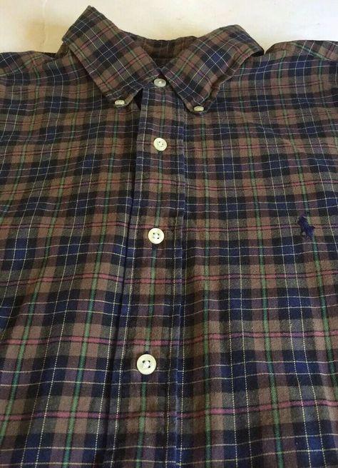 Men/'s Classic Casual Plaid Shirt Fashion Long Sleeve Button-up Cotton Shirt Top