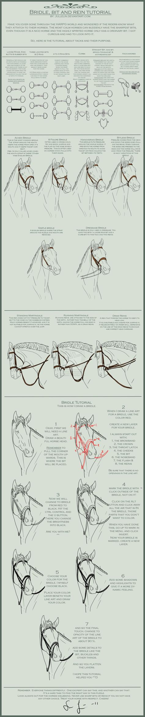 Bridle, Bit and Reins, for Horse Bowl :)