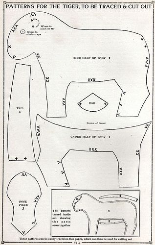 Patterns for the Tiger, To Be Traced & Cut Out by cluttershop, via Flickr