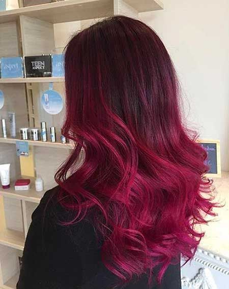 25 Burgund Rot Haarfarbe Ombre Stil Rot Ombre