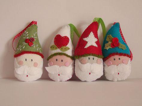 Santa tree decs