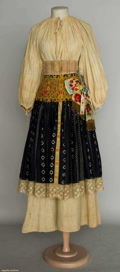 Regional Dress, Slovakia, 1875-1900.