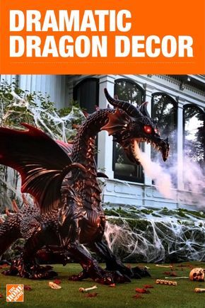 Dragon Halloween Decorations.Create A Realistic Dragon Lair This Halloween That Will Have Your Neighbors Do A Double Take This Fire B Dragon Halloween Fall Halloween Decor Halloween Props