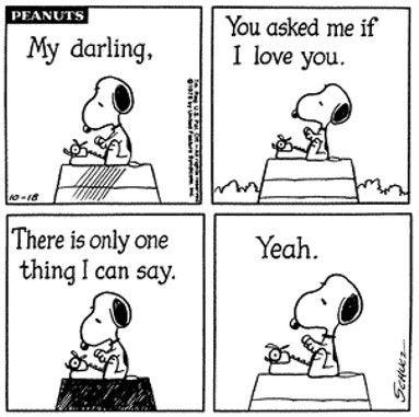 romance with Snoopy | Peanuts comic via tumblr | Snoopy comics, Snoopy  love, Snoopy